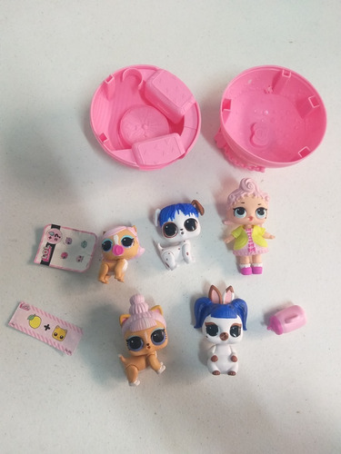 lote lol surprise removida da embalagem + lol pets t71