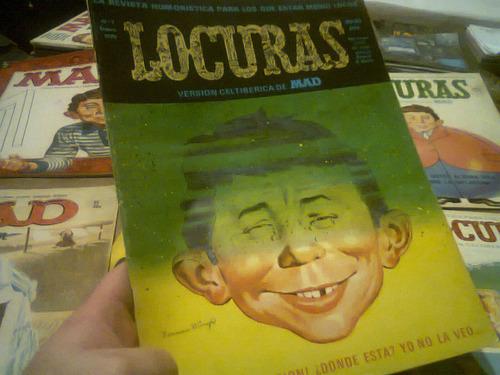 lote mad x 5 revistas locuras españa vintage raro retro kxz