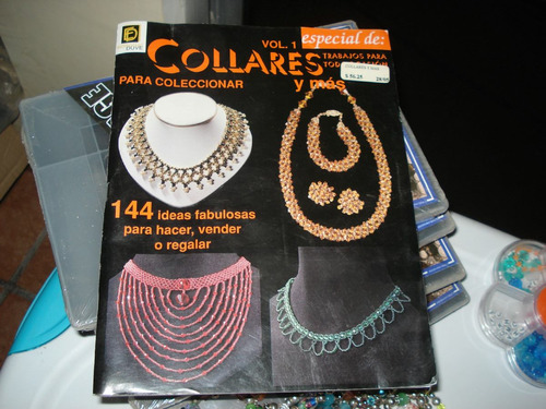 lote material  para elaborar  pulseras y collares