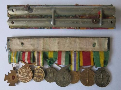 lote medalhas militares miniatura com barretes