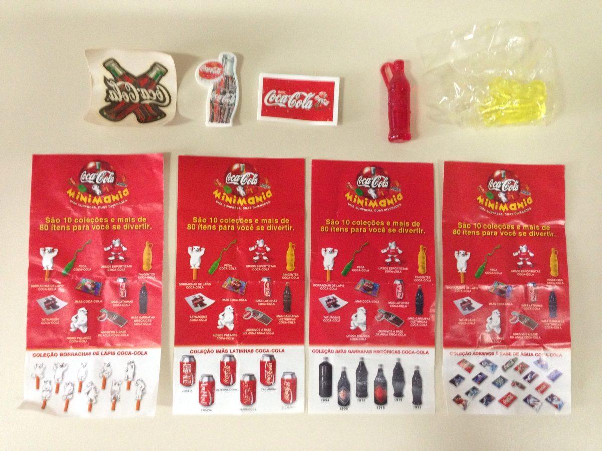Lote Minimania Coca-cola: Pingente, Tatuagem, Adesivos E + - R$ 8 ...