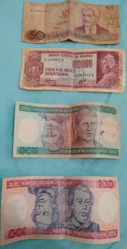 lote moedas e cedulas antigas