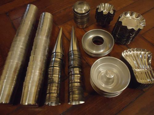 lote moldes formas varias- metálicos- nuevos!