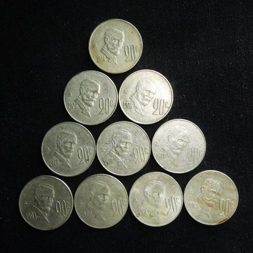 lote monedas 20 centavos 1974 a 1983 francisco i madero