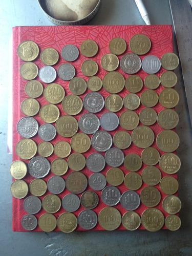 lote monedas antiguas argentinas del 1949 al 1989