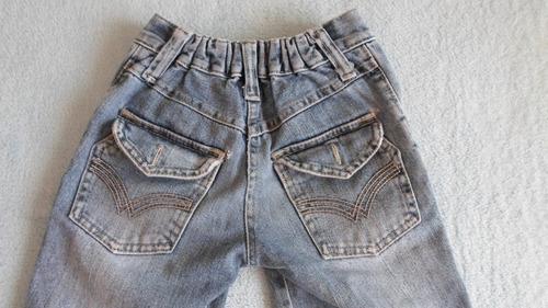 lote pantalon jean y remera algodon niño talle 4
