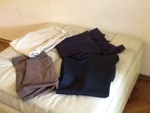 lote pantalones capri y de vestir talle 48/50