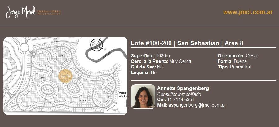 lote perimetral #100-200 - san sebastian - area 8 - 1030m2 #id 1847