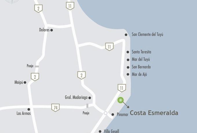 lote perimetral #600-700 - costa esmeralda - residencial 1 - 1000m2 #id 12112
