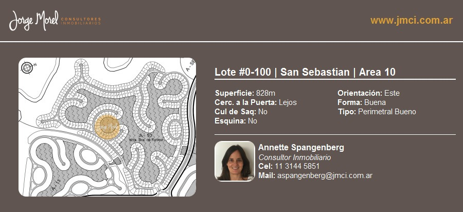 lote perimetral bueno #0-100 - san sebastian - area 10 - 828m2 #id 2487
