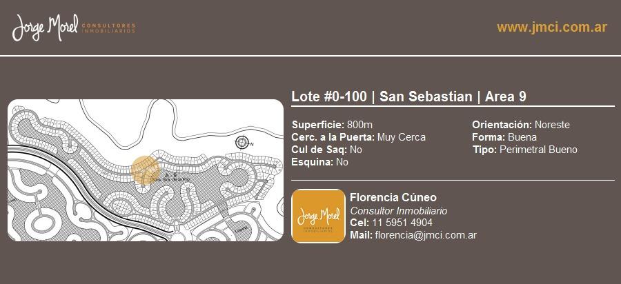 lote perimetral bueno #0-100 - san sebastian - area 9 - 800m2 #id 2121