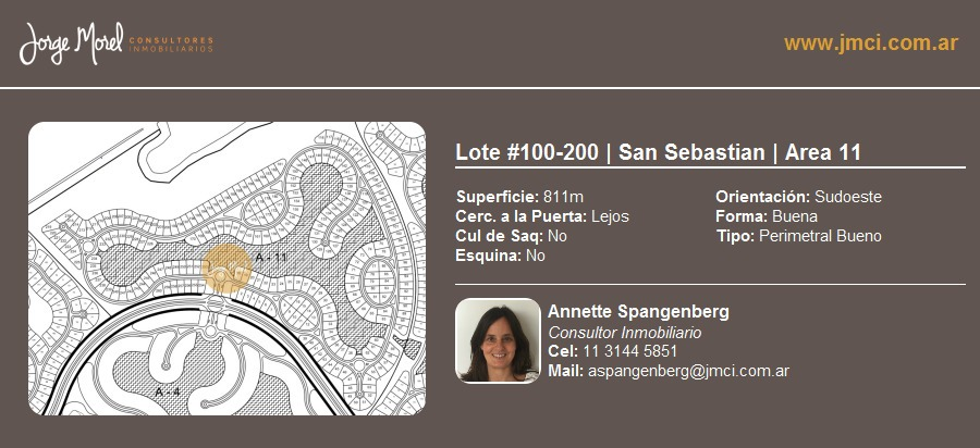 lote perimetral bueno #100-200 - san sebastian - area 11 - 811m2 #id 3016