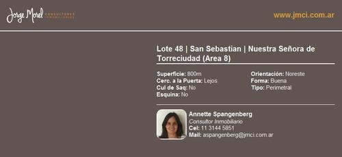 lote perimetral - san sebastian - nuestra señora de torreciudad (area 8)