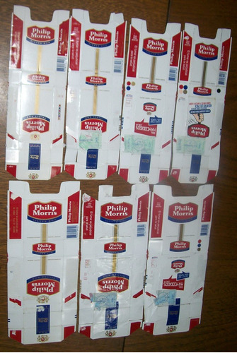 lote philips morris box desarmado x 7 unidades (003) vacíos