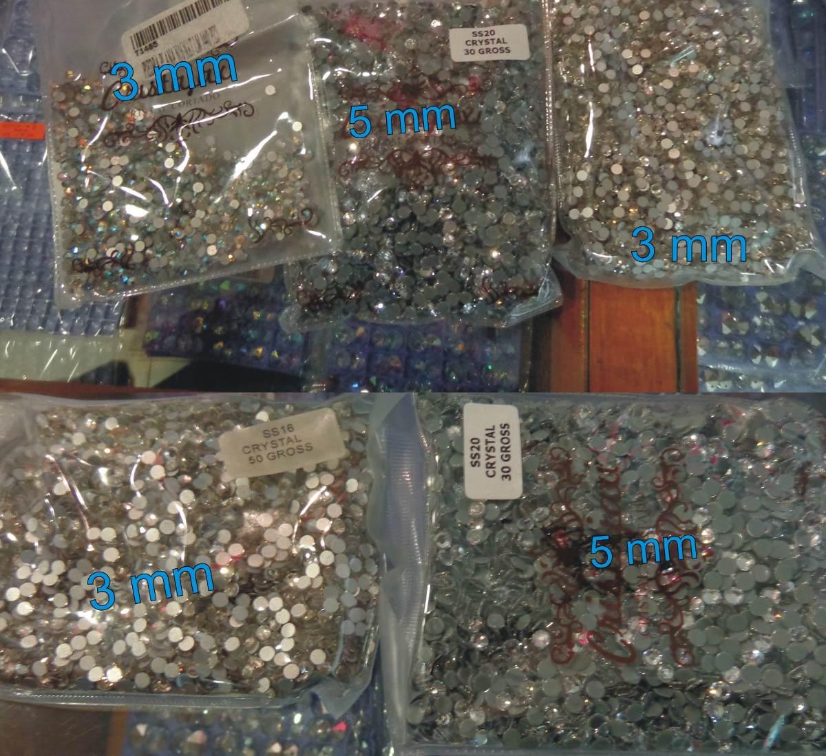 Lote Piedras Cristal Cortado Para Ropa Lenceria Vestidos