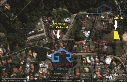 lote plano e limpo, cond. jd colonial, dentro chác. s. joão - codigo: te0002 - te0002