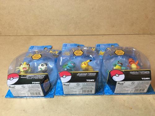 lote pokemon 3 empaques nuevos unicos de coleccion pikachu