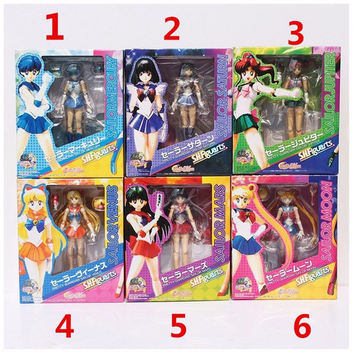lote por 6 figuras sailor moon version china