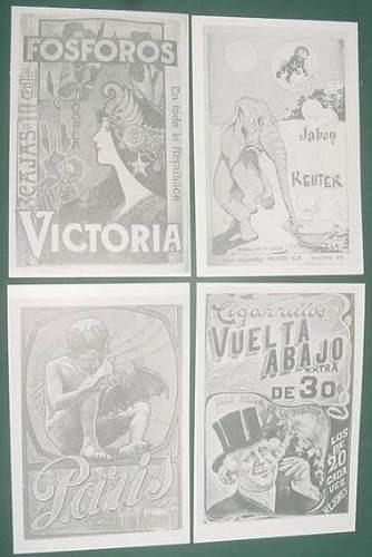 lote postales publicidades gardel tango margarita xirgu auto