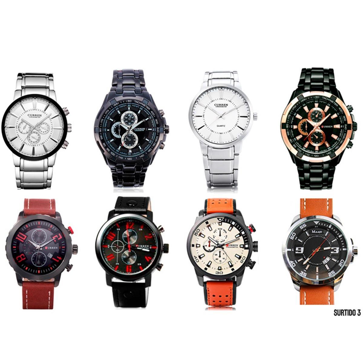 af8e4e054fe6 lote relojes hombre surtido curren 8 piezas precio mayoreo. Cargando zoom.