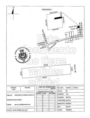 lote residencial en gran manzana dzityá, 10x50 urbanizado.