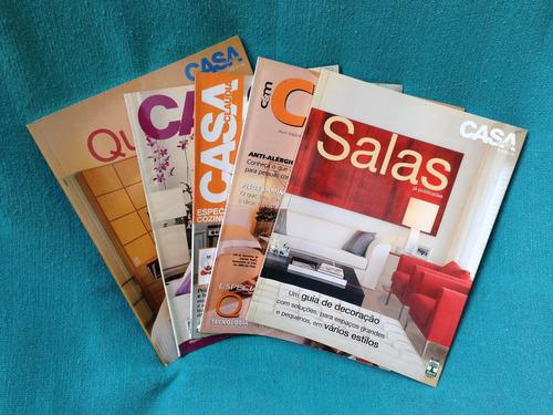 lote revistas casa cláudia espaços ideias 5 revistas coleção