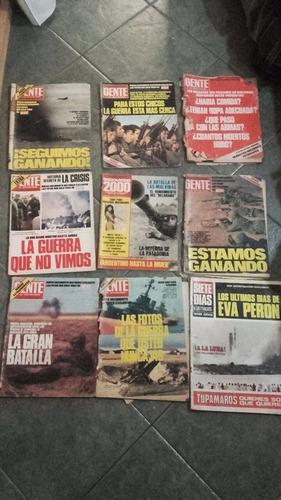 lote revistas de guerra de malvinas gente radiolandia 7 días