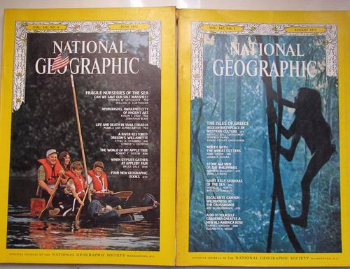 lote  revistas national geographic  año 1972