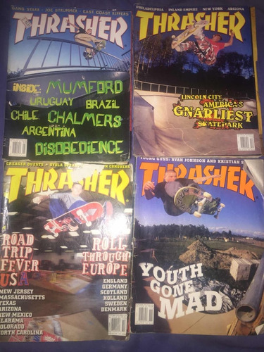 lote revistas skate trasher skateboarding
