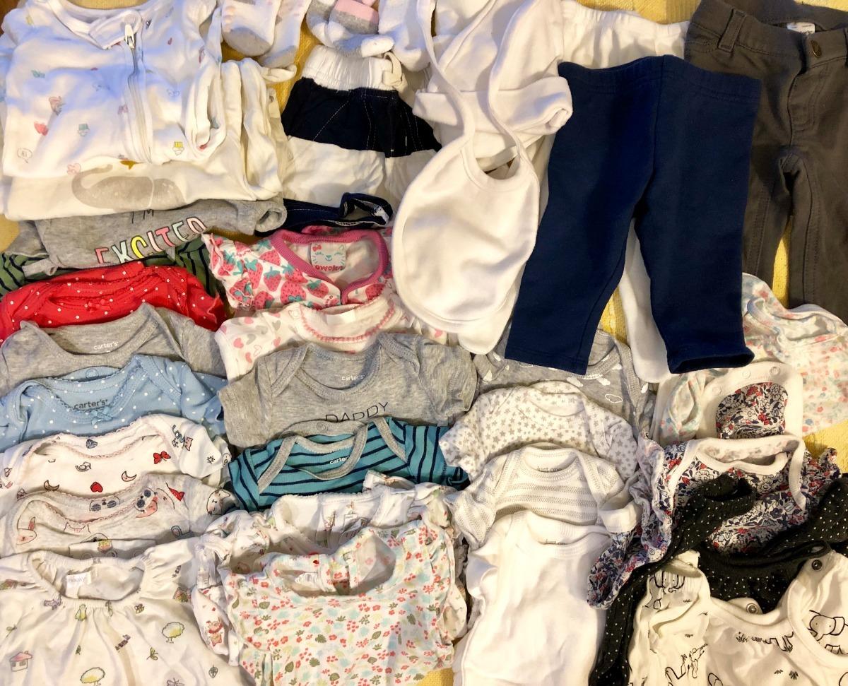44ae5a6c9 lote ropa bebé nena nb 0-3 meses / carters gap - 42 prendas. Cargando zoom.