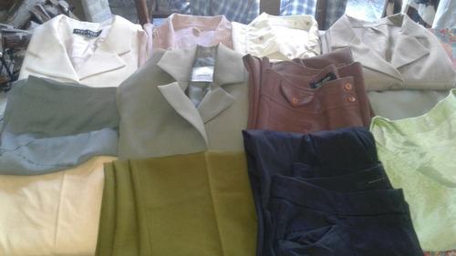 lote ropa de mujer sacos. pantalones variados enviograt