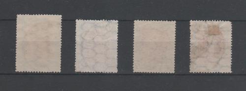 lote sellos 1$ - labrador - san martin 1917 y 23 usadas