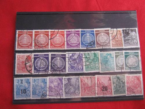 lote sellos alemania oriental 02