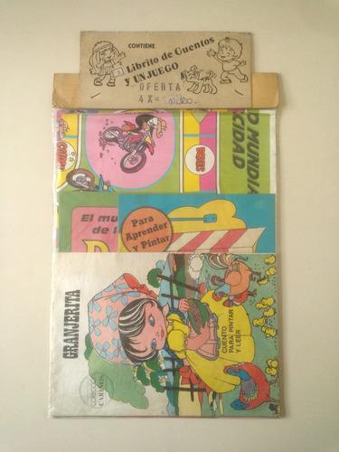 lote set 3 cuentos infantiles pintar + juego de mesa