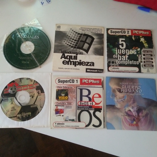 lote software juegos y atlas retro computación 6 cd