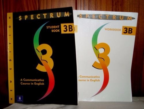 lote spectrum 3b -book and workbook -excelentes