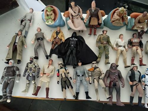 lote star wars 60 bonecos antigos kenner e outros