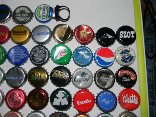 lote tapas corona cervezas y bebidas diferentes