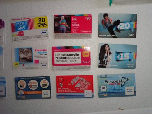 lote tarjetas telefónicas de personal - época 1999-2013