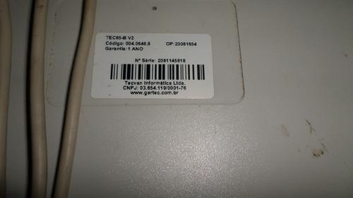 lote teclado programável gertec tec 65  display conexão ps2