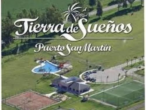 lote terreno en venta - tierra de sueños puerto san martin - financiado 12 cuotas fijas en pesos
