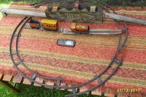 lote tren chapa ingles vías puente a cuerda funciona
