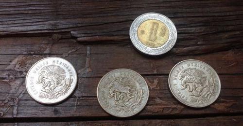 lote tres monedas antiguas de plata 25 centavos mexicanos