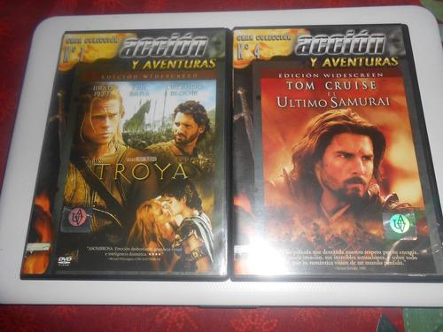 lote troya/el último samuray dvd