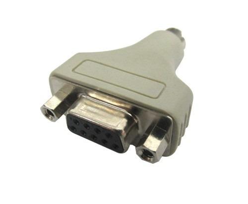lote unico 60pcs adaptador db9 macho para mini-din 6 pinos