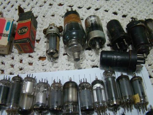lote válvulas de rádio antigo , 38 unidades   conf descr.