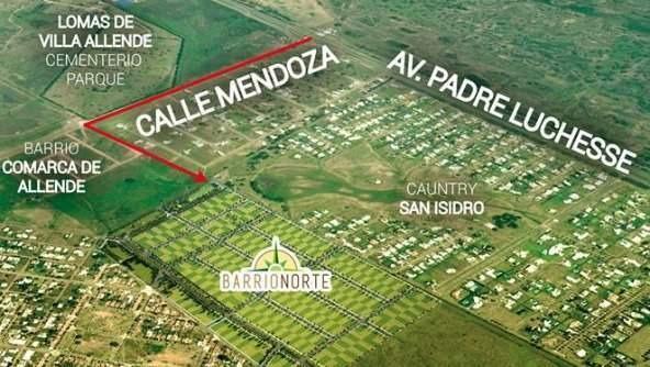 lote venta barrio norte 2- villa allende- boleto cv