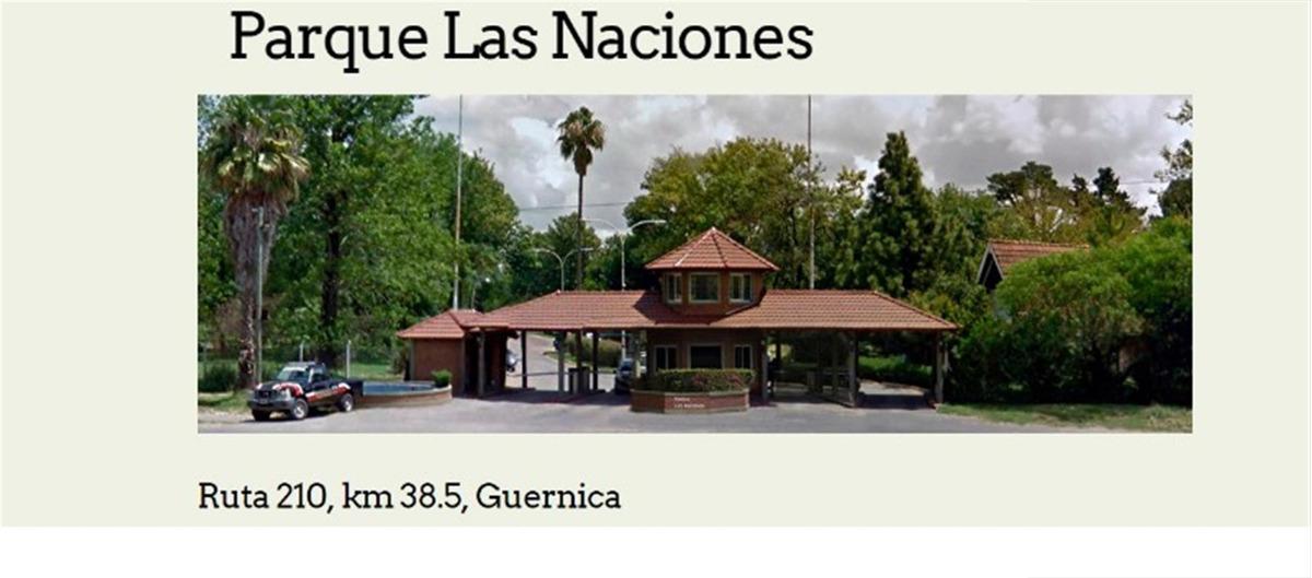 lote venta guernica en barrio parque las naciones