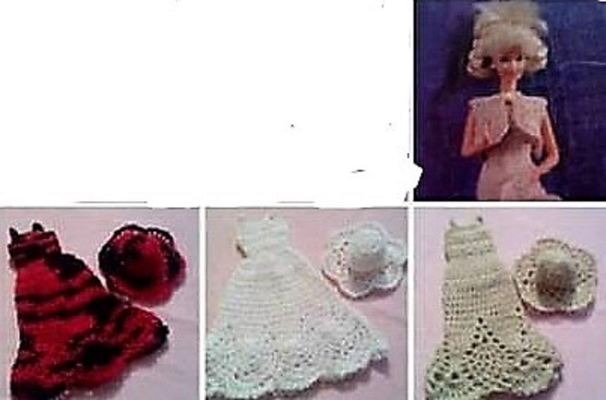 Lote Vestidos Muñeca Barbie Vintage Tejido Crochet Skay - $ 650.00 ...
