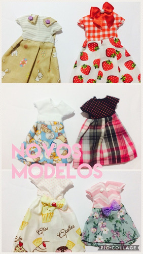 lote vestidos para bonecas pullip, blythe, barbie